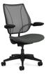 Ergolab Liberty Adj arms black frame grey seat