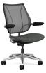 Ergolab Liberty Adj arms polished aluminium frame grey seat