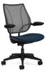 Ergolab Liberty Adj arms black fram blue seat
