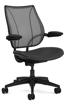 Ergolab Liberty Adj arms black frame black leather seat
