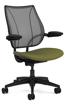 Ergolab Liberty Adj arms black frame green seat
