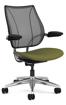 Ergolab Liberty Adj arms polished aluminium frame green seat
